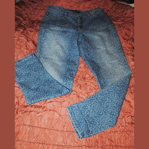GLORIA VANDERBILT Amanda Star Pattern Jeans Sz 12